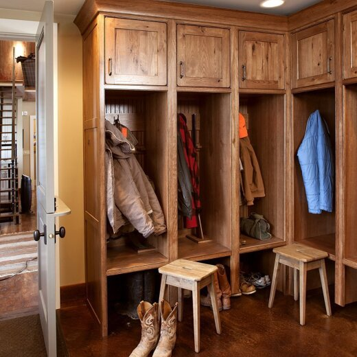 Entryway cabinets for coats