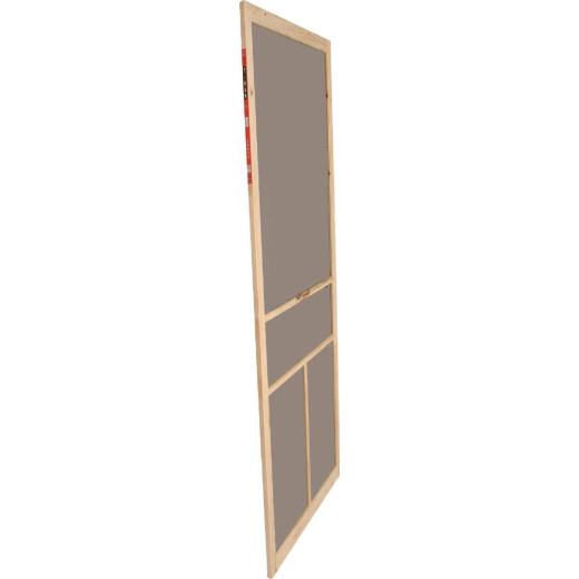 Snavely Kimberly Bay 36 In. W x 80 In. H x 1 In. Thick Natural Fingerjoint Pine Wood T-Bar Screen Door