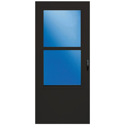 Larson Value-Core 36 In. W x 80 In. H x 1 In. Thick Brown Self-Storing Aluminum Storm Door