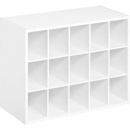 ClosetMaid White 15 Cube Storage Stacker Organizer