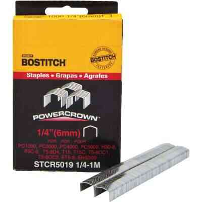 Bostitch Powercrown Hammer Tacker Staple, 1/4 In. (1000-Pack)