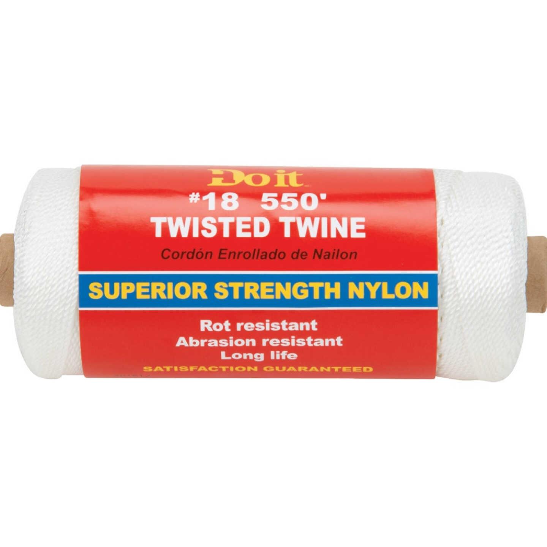 Do it #18 x 550 Ft. White Nylon Twisted Twine Image 1