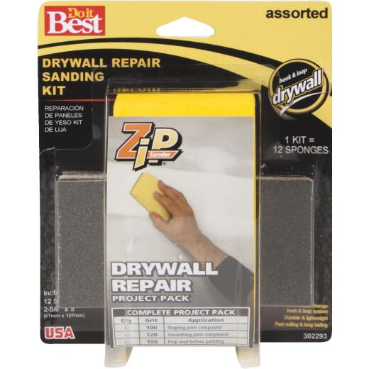 Do it Best Zip Sander Drywall Repair Hand Sanding Kit
