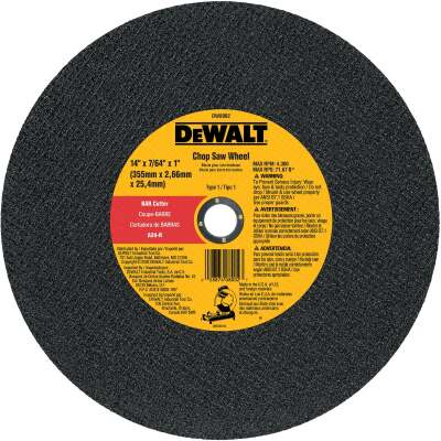 DeWalt HP Type 1 14 In. x 7/64 In. x 1 In. Metal Cut-Off Wheel