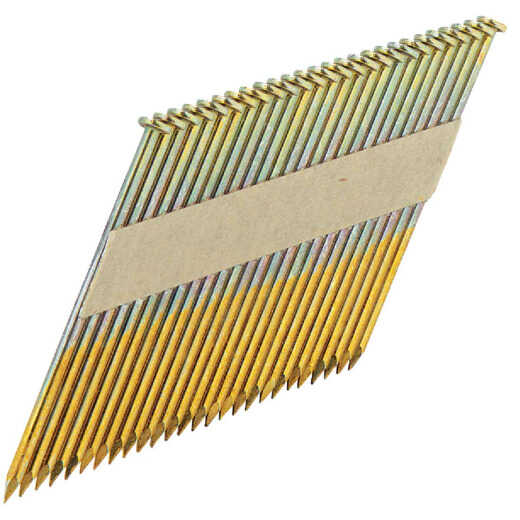 Grip-Rite 30 Degree Paper Tape Hot-Dipped Galvanized Clipped Head Framing Stick Nail, 3-1/4 In. x .131 In. (2000 Ct.)