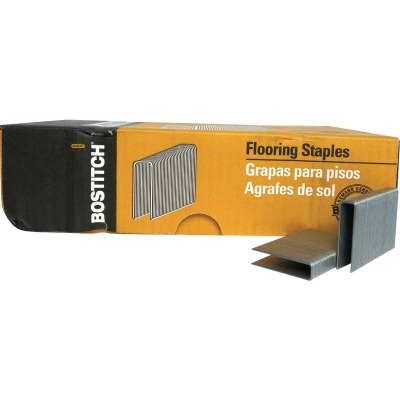Bostitch 15-1/2-Gauge Galvanized Hardwood Collated Flooring Staple, 1/2 In. x 2 In. (1000 Ct.)