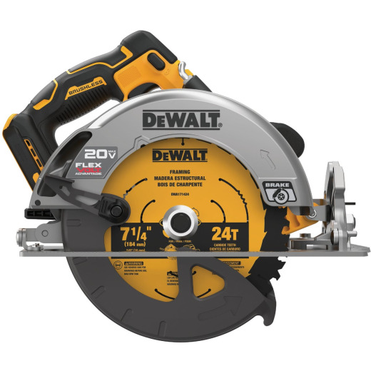 DeWalt 20 Volt MAX 7-1/4 In. Brushless Cordless Circular Saw with Flexvolt Advantage (Bare Tool)