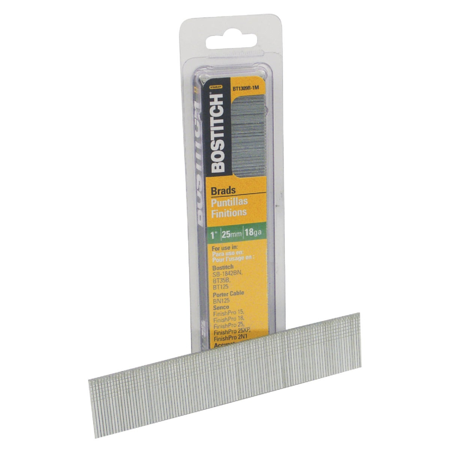 Bostitch 18-Gauge Coated Brad Nail, 1 In. (3000 Ct.) Image 1