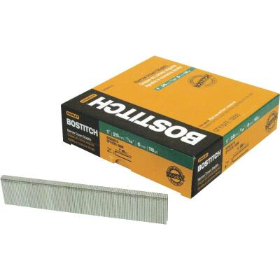 Bostitch 18-Gauge Galvanized Narrow Crown Finish Staple, 7/32 In. x 1-3/16 In. (3000 Ct.)