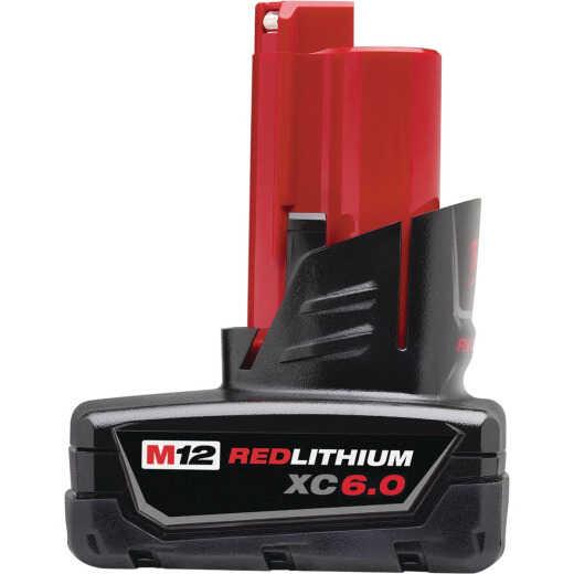 Milwaukee M12 REDLITHIUM XC 12 Volt Lithium-Ion 6.0 Ah Tool Battery