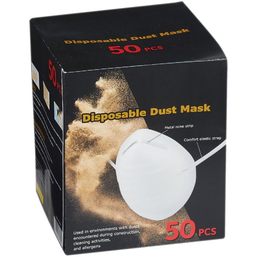Disposable Dust & Face Mask (50-Pack)