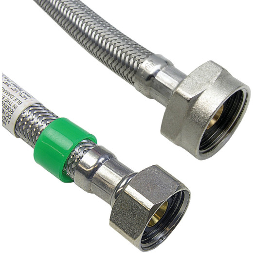 Lasco 1/2 IPS x 7/8 BC x 16 Braided Stainless Steel Flex Line Toilet Connector