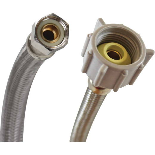 """Fluidmaster 3/8"""" Comp x 7/8"""" Ballcock x 20"""" L Braided Stainless Steel Toilet Connector"""