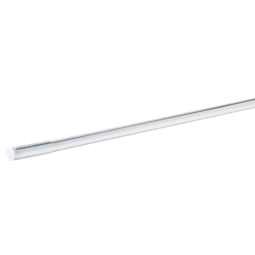 Jones Stephens Straight 58 In. To 61 In. Adjustable Tension Shower Rod Aluminum