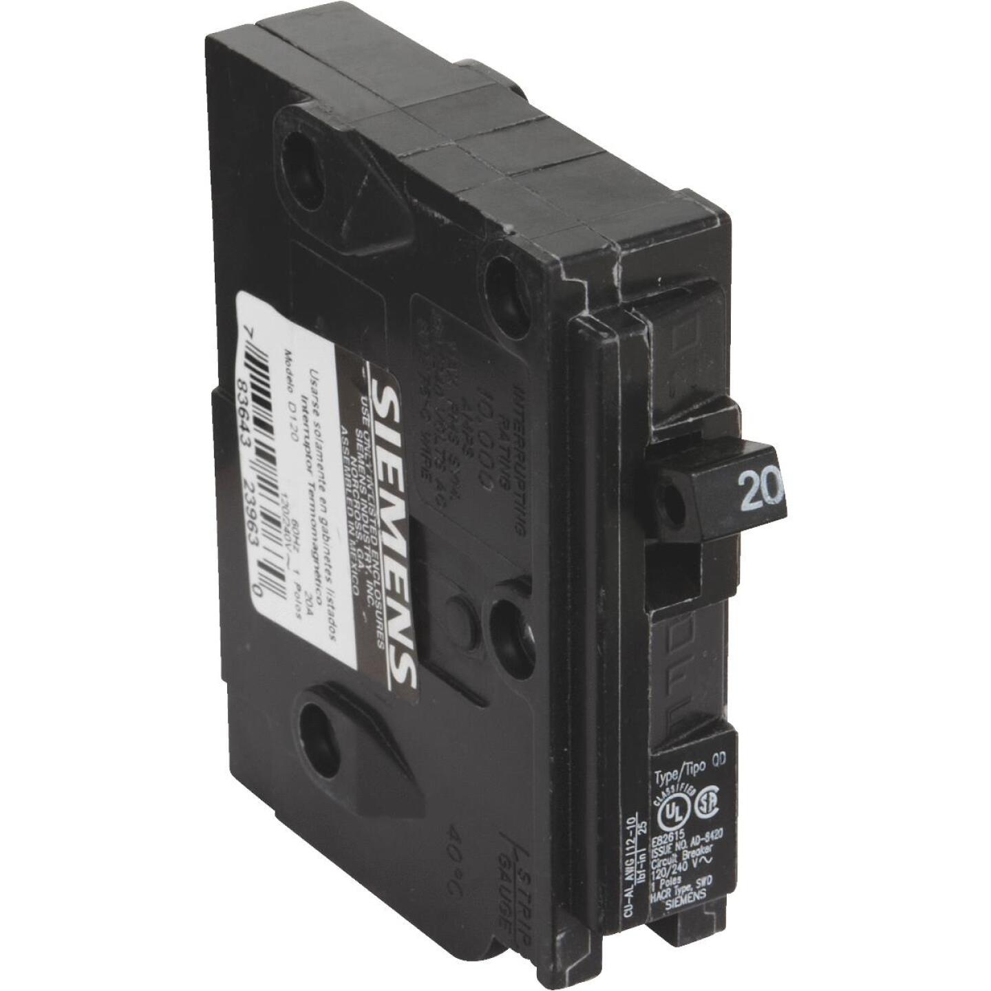 Connecticut Electric 20A Single-Pole Standard Trip Packaged Replacement Circuit Breaker For Square D Image 2
