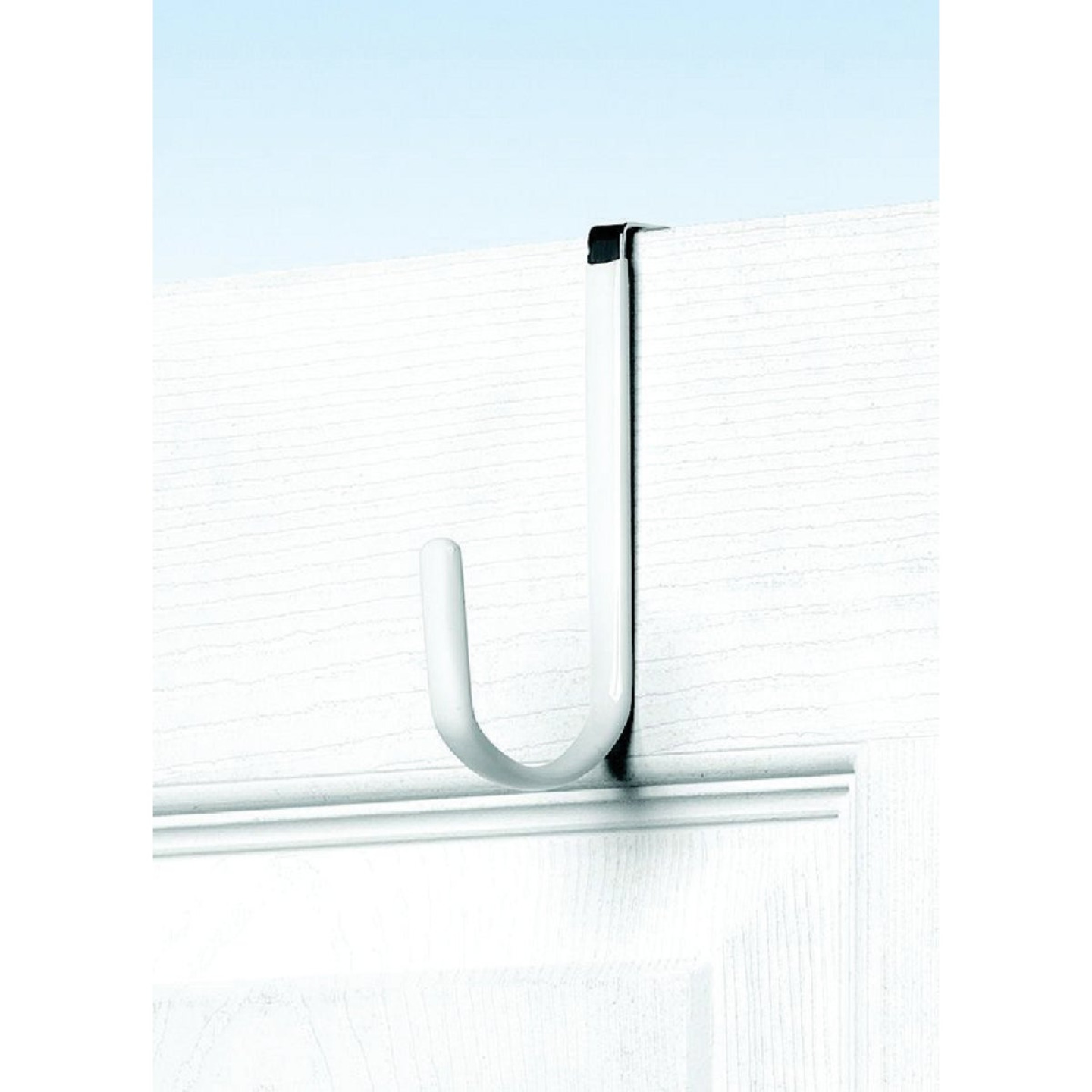 Spectrum Metal White Single Over-The-Door Hook Image 1