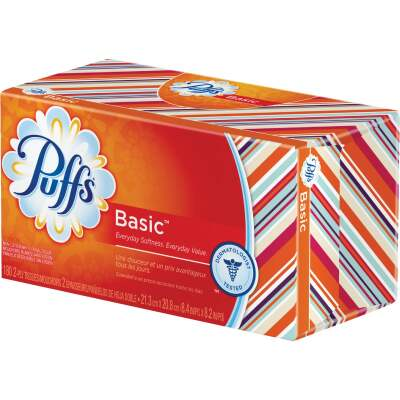 Puffs Basic 180 Count 2-Ply White Facial Tissue