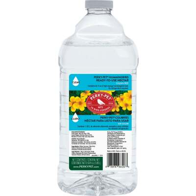 Perky-Pet 64 Oz. Clear Ready To Use Liquid Hummingbird Nectar