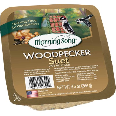 Morning Song 9.5 Oz. Woodpecker Suet