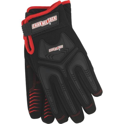 Channellock Men's XL Synthetic Leather Heavy-Duty Mechanics Glove, Black