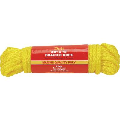Do it 3/8 In. x 75 Ft. Yellow Braided Polypropylene Packaged Rope