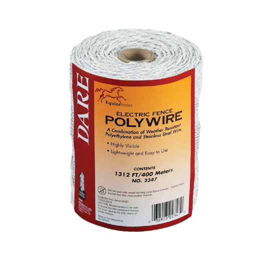 Dare 1312 Ft. Polyethylene w/Stainless Steel Strands Electric Fence Poly Wire