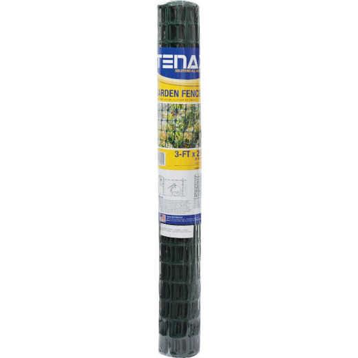 Tenax 3 Ft. H. x 25 Ft. L. High-Density Polyethylene Garden Fence, Green