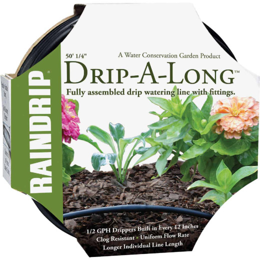 Raindrip 1/4 In. Dia. x 50 Ft. L. Poly Soaker Hose with Fittings