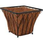 Best Garden 14 In. Steel Rod Black Planter Image 1
