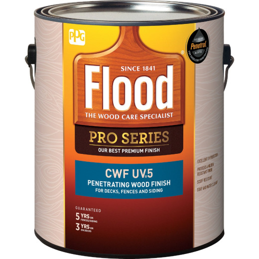 Flood CWF - UV5 Pro Series Wood Finish Exterior Stain, Cedar, 1 Gal.