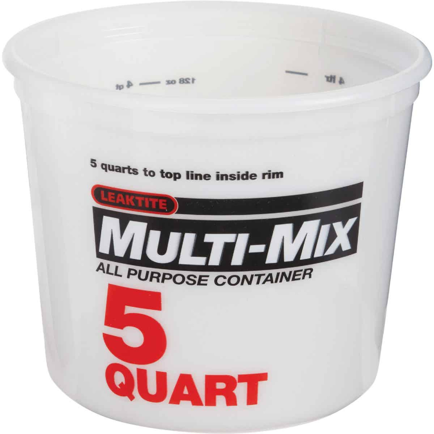 Leaktite 5 Qt. White Multi-Mix All Purpose Mixing And Storage Container Image 1