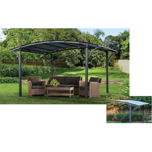 SunJoy Huntington 10 Ft. W. x 90.5 In. H. x 10 Ft. L. Dark Gray Pergola