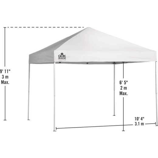 Quick Shade Marketplace 10 Ft. x 10 Ft. White Aluminex Fabric Canopy