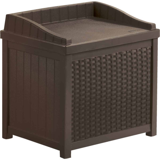Suncast Java Resin Wicker Storage Bench