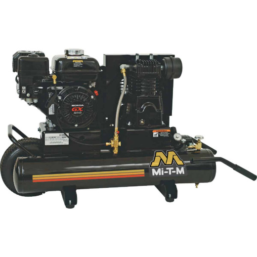 Mi-T-M 8 Gal. Portable 90 psi Twin-Stack Air Compressor